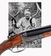 "John Rigby cal .470 Boxlock Ejector Double Rifle owned by Philip H. Percival, the ""Dean of African Professional Hunters"" who inspired Hemingway's character ""Pop"" in ""Green Hills of Africa."""