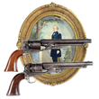Extremely Fine Cased Pair of Col. Colt Presentation Model 1860 Army Percussion Revolvers to Col. James Cameron who died heroically at the Battle of First Bull Run.