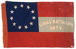 "Confederate 1st National Battle Flag of the 15th South Carolina Heavy Artillery Battalion, ""Lucas Artillery;"" estimated at $40,000-60,000, sold for $46,000."