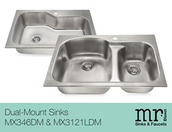 New Dual-Mount Sinks from MR Direct