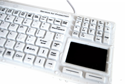 SaniType for Sanitary Typing Medical Hygienic Computer Keyboards KBSTRC106T-W and KBSTFC106-W