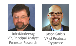 Photos of Guest speaker John Kindervag, Vice President and Principal Analyst, Forrester Research, Inc. and Jason Garbis, Cryptzone, Vice President of Product