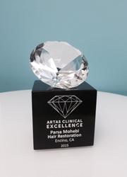 Parsa Mohebi, MD receives award from ARTAS robotic hair transplant