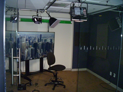 Live broadcast studio open to the public for live TV interviews