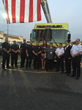 Taya Kyle honors and thanks Baton Rouge firemen for their service