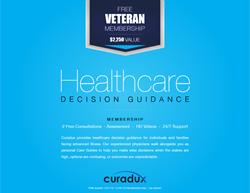 Curadux Ad for Veterans