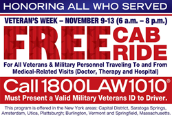 Law firm provides taxi ride service to veterans at no charge