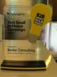 BESLER Consulting Wins a 2015 Bright Bulb B2B Marketing Award for Best Small Team In-House Campaign