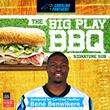 "Harris Teeter Unveils Carolina Panthers' Bené Benwikere's ""The Big Play BBQ"" Signature Sub Sandwich"