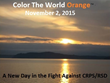 Second-Annual Color the World Orange™ for CRPS/RSD Awareness to Turn The Night Orange on Nov. 2