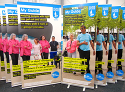 A series of 8 new banners, will be located at points around the UK, raising funds and awareness for Guide Dogs.
