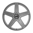 Ascent Alloy Wheel | Matte Titanium Silver