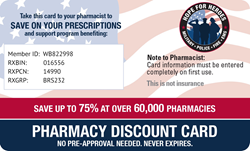 Free Pharmacy Discount Card benefiting Hope For Heroes