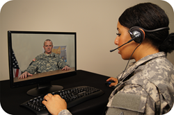 Interacting with a virtual Soldier