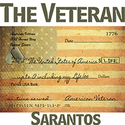 Sarantos song artwork the Veteran solo music artist Voice of Chicago new pop rock free release Wounded Warrior Homes Charity