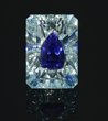 Tanzanite is set invisibly inside aquamarine, which has never been done before