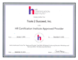 Tools 2 Succeed 2016 HRCI Approved Provider Certificate