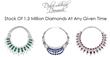 Stock of more than 1.3 million diamond jewels