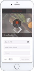 The Orderly Snap App is the paperless invoicing app for restaurants.