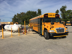 This Blue Bird Vision Propane bus, from contractor Jubb's Bus Service, Inc., went into operation for the 2015-16 school year.
