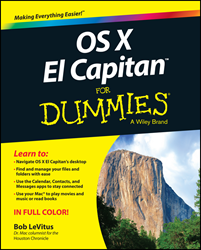 "OSX El Capitan For Dummies, Bob ""Dr. Mac"" LeVitus, Wiley, Dummies book"