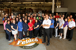 Doug Cook and his team in Feldco's Des Plaines, IL warehouse