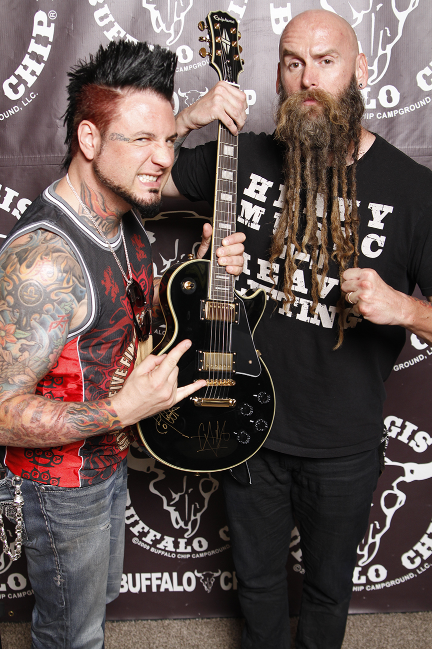 Buffalo Chip Fan To Win Five Finger Death Punch Signed Guitar And 250 Shopping Spree