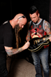 One lucky fan will win this Epiphone guitar signed by Five Finger Death Punch.