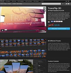 Pixel Film Studios FCPX TransFlip 3D Plugin.