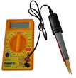 LED Test Tweezers can be connected to a multimeter to be used as the probes