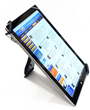 The unit converts to a rotatable tablet stand.