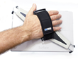 """The lightweight, 2"""" wide neoprene-lined adjustable Velcro hand strap provides hours of comfortable use."""