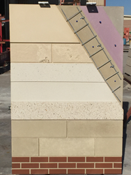 cross sectional view of the Thermomass Insulated Precast Concrete System
