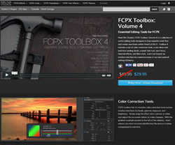 Final Cut Pro X FCPX Toolbox Volume 4 Plugin from Pixel Film Studios.