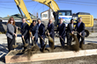 Chicago/Midway Vīb groundbreaking attendees include L-to-R- Alderman Marty Quinn; Vib Developer Balkrishna Patel; Best Western Hotels & Resorts President & CEO David Kong; Chicago Mayor Rahm Emanuel; Illinois Speaker of the House Michael Madigan; Vīb developer Amit Patel