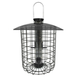 Droll Yankees' Sunflower Domed Caged Bird Feeder in Black Offers Songbird Selective Feeding with Attractive, Sleek Styling