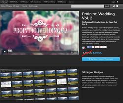 Pixel Film Studios FCPX ProIntro Wedding Volume 2 Plugin.