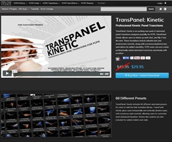 Pixel Film Studios FCPX TransPanel Kinetic Plugin.