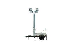 30' Telescoping Light Mast Equipped with Two Manual Winches for Operation