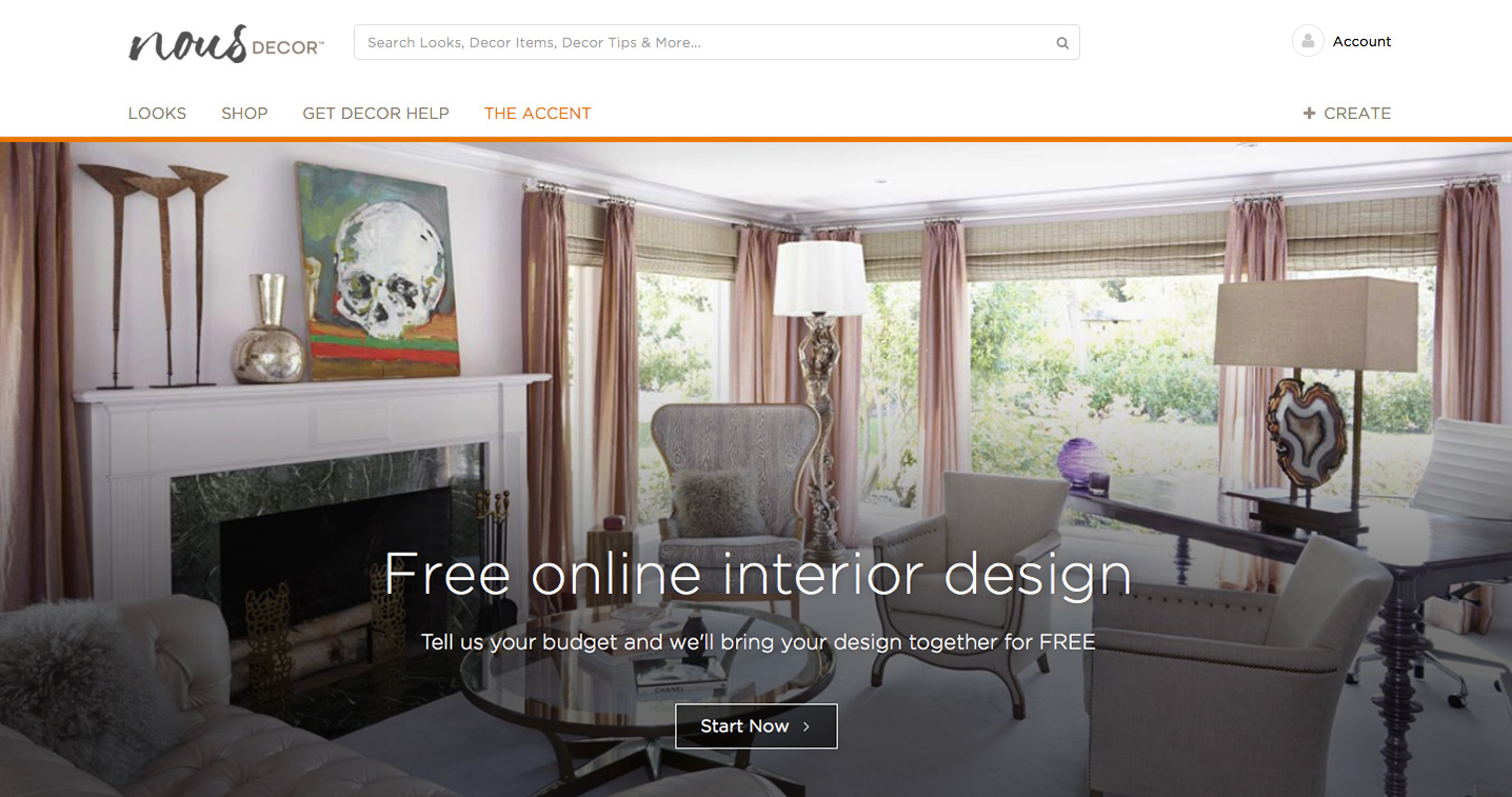 NousDecor Launches First No Cost Online Interior Design Service