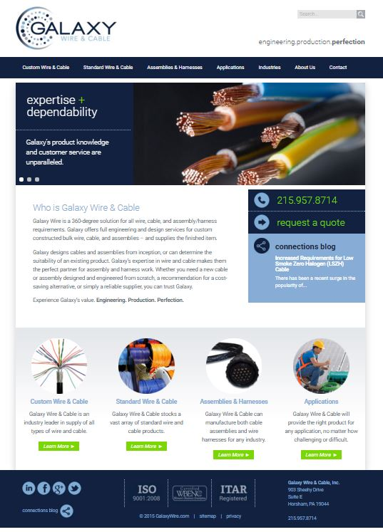 Galaxy Wire  U0026 Cable Launches New Website And New Brand