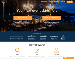 The Spot is a free marketplace for event spaces and curated experiences for corporate groups