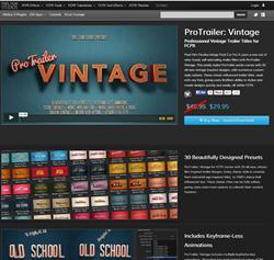 Pixel Film Studios ProTrailer Vintage Plugin.