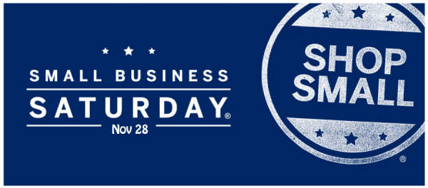 shop small on small business Saturday, November 28.