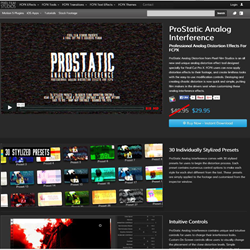 Pixel Film Studios ProStatic Analog Interference Plugin.