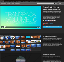 Pixel Film Studios Transpack Volume 6 Plugin.