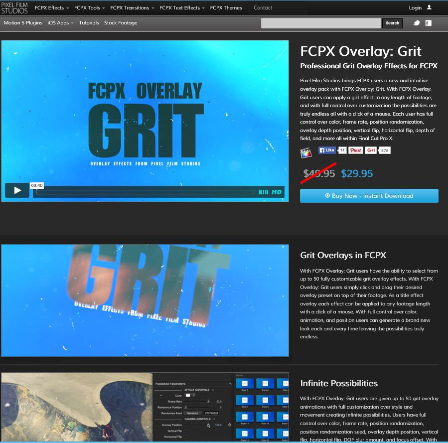 Pixel Film Studios Announces The Release Of FCPX Overlay