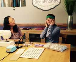 AcousticSheep CEO, Wei-Shin Lai and Alie Ward