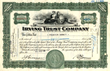 Irving Trust Company Stock Certificate