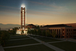 Artist's rendering of Freedom Tower and Rawlings School of Divinity.